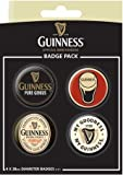 Guinness, Pure Genius Official Guinness Button Badge Pack 10.5x14.5cm