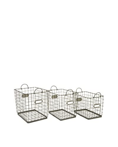 Set of 3 Newbridge Wire Storage Baskets