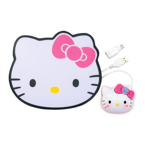 Hello Kitty USB/PS2 Optical Mouse and Mousepad