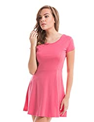 Prym Women's A Line Dress (1011506502_Bright Pink - 17-1937_Large)