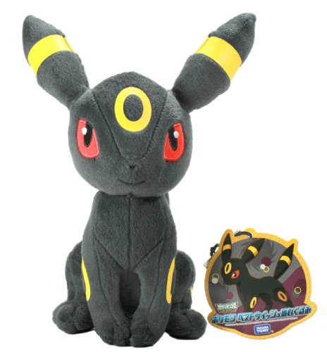 "Takaratomy Pokemon N-47 Umbreon/Blacky Best Wishes 8"" Plush Doll - 1"