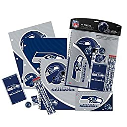 NFL Seattle Seahawks Stationery Set (11 Piece), One Size, Multicolor