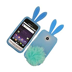 Bunny Skin Case With Furry Tail for LG Optimus M MS690, Baby Blue