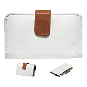 Jo Jo A8 Nillofer Leather Carry Case Cover Pouch Wallet Case For Asus ZenFone 4 A400CG White Orange