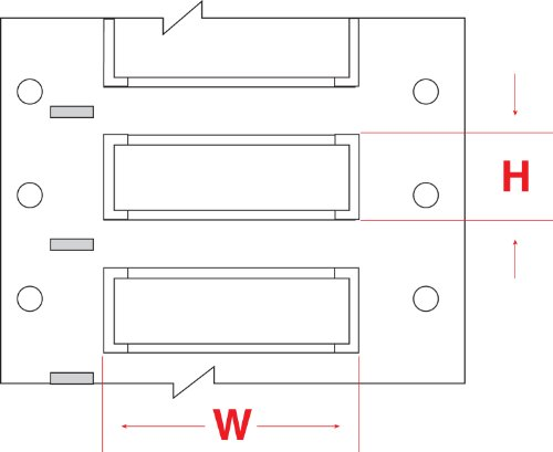 """Brady Ps-750-2-Wt 2"""" Width X 1.250"""" Height, B-342 Heat-Shrink Polyolefin, Matte Finish White Permasleeve Wire Marking Sleeve, Two-Sided Printable (Pack Of 250)"""