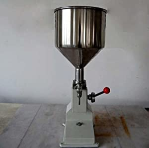 Huhushop(TM) Manual Liquid Filling Machine 5-50ml for Cream Shampoo Cosmetic Liquid Filler