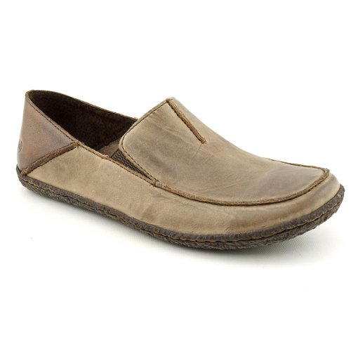 Born Harker Mens Size 8 Brown Mousse Full-Grain Leather Loafers Shoes