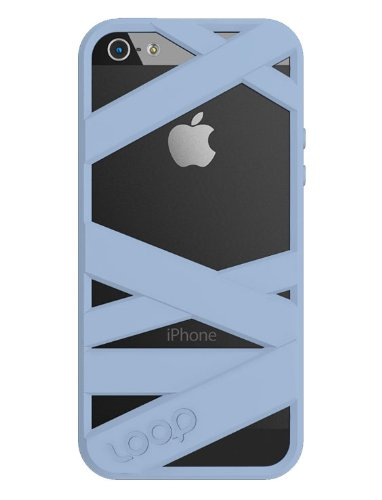 Best Price Loop Attachment Mummy Case for Apple iPhone 5 - Powder Blue