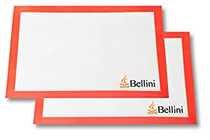 "Premium Non Stick Silicone Baking Mat (2 Pack) - Professional Grade - Fits Half-size Sheet Pans - 16 ½"" X 11"" - Easy to Clean, FDA Approved - Lifetime Guarantee"