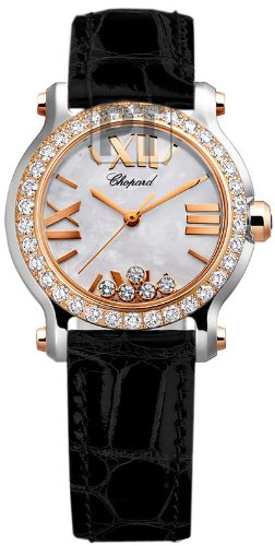Chopard Happy Sport II Ladies Rose Gold Diamond Watch 278509-6006