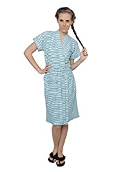 Vixenwrap Womens Bath Robe (V2620536BR_Blue_Free Size)