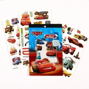 Disneys Cars Temporary Tattoo Book Party Accessory - 1