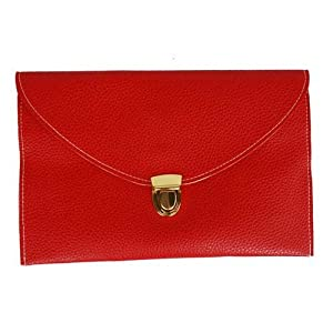 Womens Envelope Clutch Chain Purse Lady Handbag Tote Shoulder Hand Bag-Red