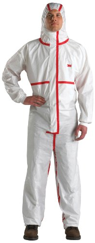 3M Disposable Chemical Protective Coverall Safety Work Wear 4565-M (Pack of 25)