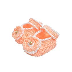 Baby wool shoes / Knitted wool shoes / Baby booties / Light Peach Color / Pre walker