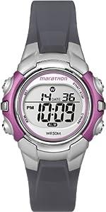Timex - T5K6464E - Marathon - Montre de Sport Femme - Quartz Digital - Cadran Gris - Bracelet Résine Gris
