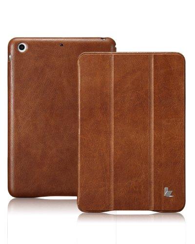 Jisoncase Vintage Genuine Leather Smart Cover Case For Ipad Mini, Js-Idm-01A20-Brown