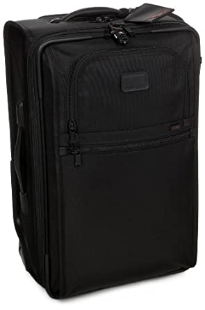 "Tumi Alpha Frequent Traveler 22"" Zippered Expandable Carry-on 022922DH,Black,one size"
