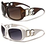 2 PACK Brown DG Eyewear Designer Womens Fashion Sunglasses