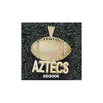 San Diego State Aztecs Aztecs Football Pendant - 14KT Gold Jewelry by Logo Art