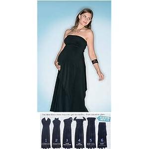 The 6 Way Dress - The Amazing Versatile Black Maternity Dress (Premium Quality)