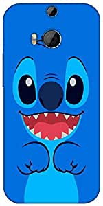 Snoogg Cute Blue Inface Designer Protective Back Case Cover For HTC M8