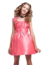 KID Collection Girls Coral Flower Girl Pageant Dress Size 10