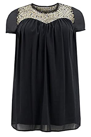 Curvylicious Women s Plus Size Baby Doll Dress Lace Short