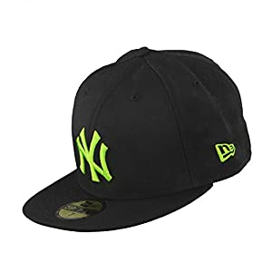 New Era NY 59FIFTY Kappe 10877663 7 1/8, Black-Lime, 7 1/8