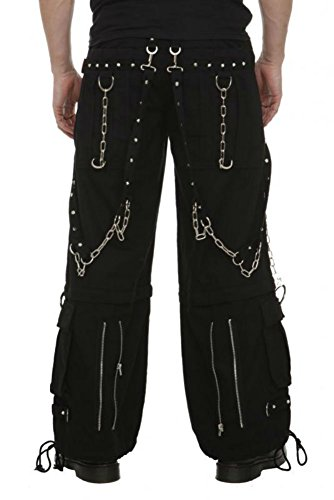 Tripp Gothic Rave Cyber Goth Skater Techno New Cuff Baggy Cargo Jeans Pants (XL – 38-40″)