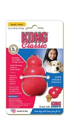 KONG Classic Kong Dog Toy, Small, Red