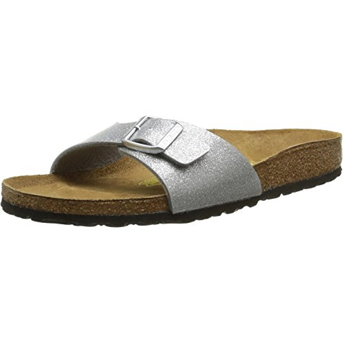 Birkenstock Madrid Birko-Flor Sandale normal magic galaxy silver - 38