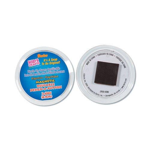 WeGlow International Design-A-Button Magnetic Buttons, 6-Piece