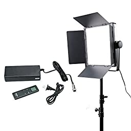 Godox LED1000 Changeable Light(White/Yellow) Photo Video Studio Photography Continuous Lighting Light Panel for Professional Studio Photogrpaher with Lux4400 and 3300-5600K,includes:(1)LED1000 Changeable Lighting+(1)Charger,Charger Cable,remote controller