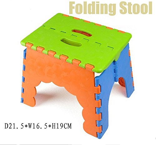 MY LIFE Folding Step Stool,Folding Plastic Stool/Childeren Step Stool /Fishing Stool,Ideal Use for Kids(Color Csome in Random)