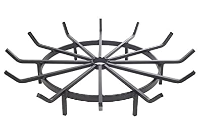 Wagon Wheel Firewood Grate for Fire Pit