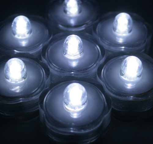 Bluedot Trading Submersible Tea Lights, White, 24-Pack