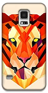 The Racoon Grip Pastel Tiger hard plastic printed back case / cover for Samsung Galaxy S5