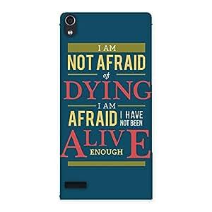 Ajay Enterprises Designer Alive Enough Back Case Cover for Ascend P6