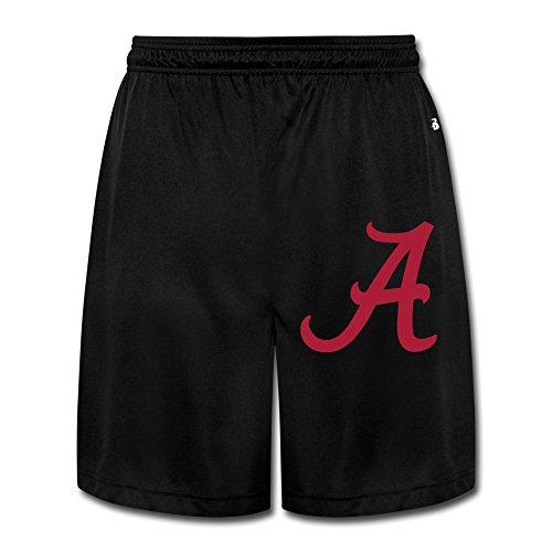 Khaki Shorts Cotton Beach Jogger Men's Black University Of Alabama Crimson Tide Sports Short Shorts Jogger