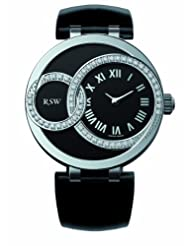 RSW Women's 6025.BS.L1.12.D1 Wonderland Round Black Dial Patent Leather Diamond Watch