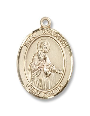 Gold Filled St. Remigius of Reims Medal Pendant Charm with 18