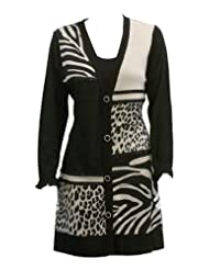 Jungle Patchwork Animal Cardigan Sweater