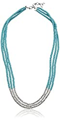 """Lucky Brand Turquoise Beaded Necklace, 26.5 """" + 2"""" Extender"""
