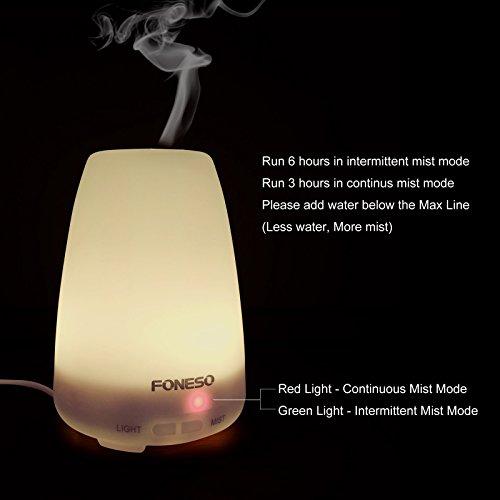 100ml foneso essential oil diffuser ultrasonic - Toddler flashlight auto shut off ...