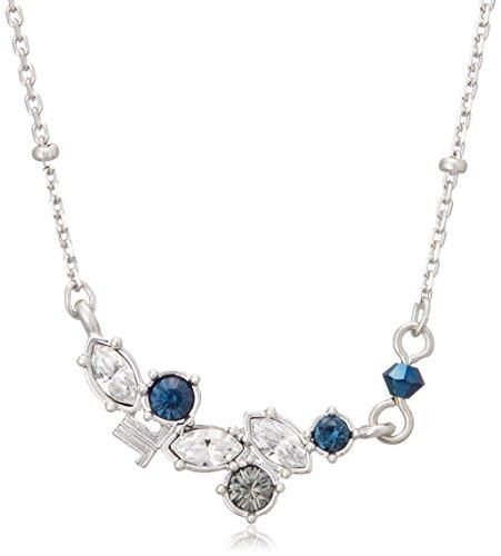 [ランバン オン ブルー] LANVIN en Bleu サファイアブルー ビジュー セサンバ ロゴ ネックレス LAMP024540UB