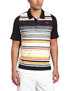 Puma Golf Mens Duoswing Stripe Polo by PUMA