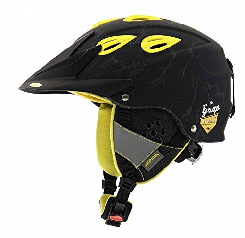 ALPINA Skihelm Grap Cross, Black-Yellow Matt, 54-57, 9057234