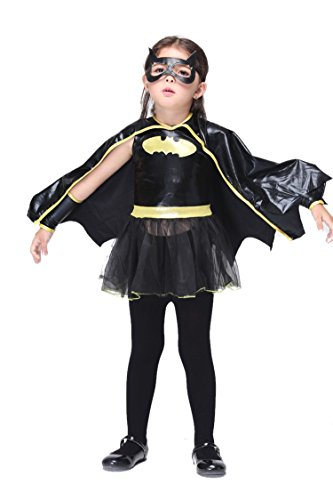 NonEcho Halloween Costumes for Kids Girls Cartoon Batman Costume
