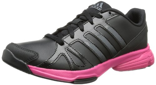 Adidas Womens Sumbrah 2 Indoor Shoes Black Schwarz (Black 1 / Night Met. F13 / Blast Pink F13) Size: 42 2/3